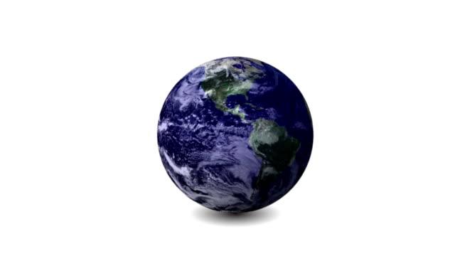 地球の回転と白(ループ) - 球形点の映像素材/bロール