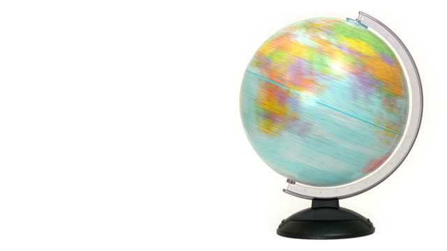 spinning globe - globe navigational equipment stock videos and b-roll footage