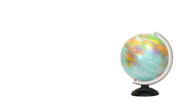 vidéos et rushes de de spinning monde - un seul objet