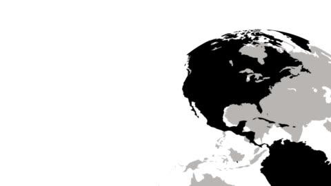 vídeos y material grabado en eventos de stock de spinning globe - europa continente