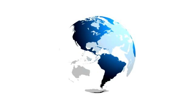 globo di filatura - grafica computerizzata video stock e b–roll