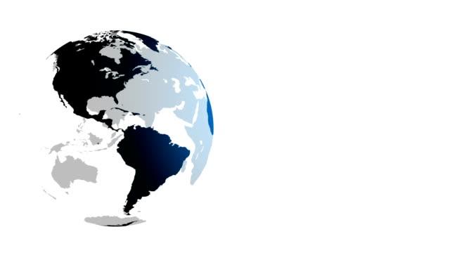 vidéos et rushes de de spinning monde - tourner