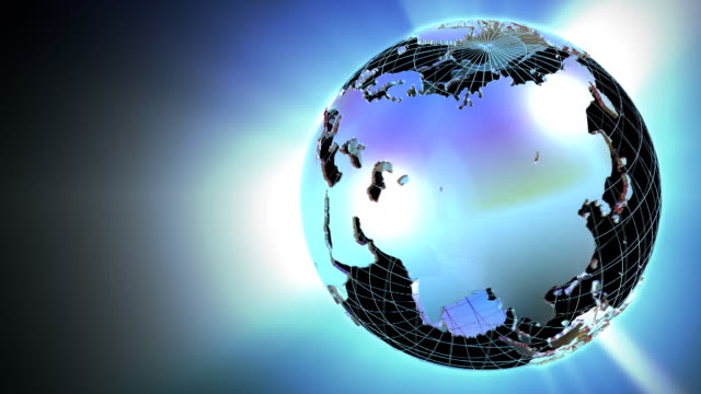 stockvideo's en b-roll-footage met spinning globe - bureauglobe