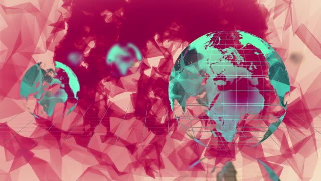 vídeos de stock e filmes b-roll de globo de fiação - mapa múndi