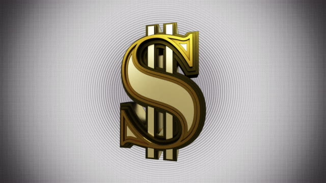 spinning gold dollar graphics animation - us currency stock videos & royalty-free footage