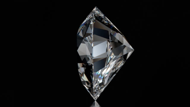 spinning heart cut diamond with sparkles - stone object stock videos & royalty-free footage