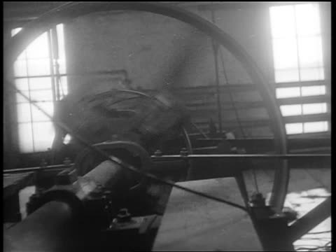 b/w 1932 spinning machinery / whiskey production louisville ky - 1932 stock videos & royalty-free footage