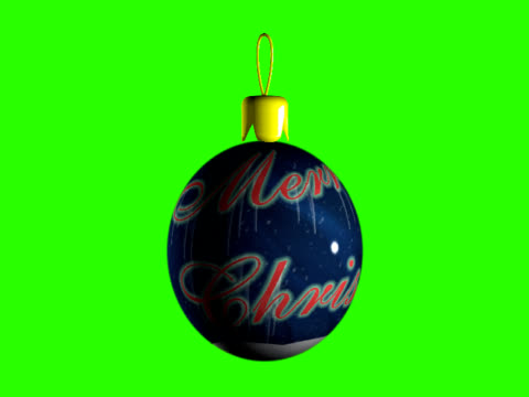 spinning merry chrismas ornament - christmas bauble stock videos & royalty-free footage