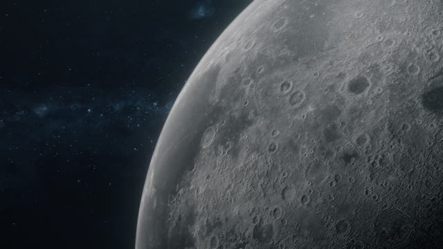 spinning moon in outer space - moon stock videos & royalty-free footage