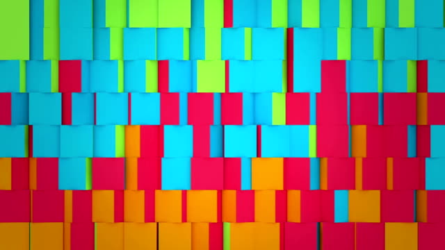 spinning multicoloured cubes - square stock videos & royalty-free footage