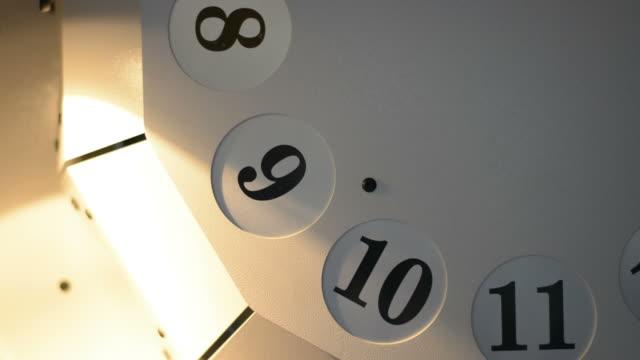 vídeos y material grabado en eventos de stock de spinning de valor numérico en la máquina unidad de marcación - dial