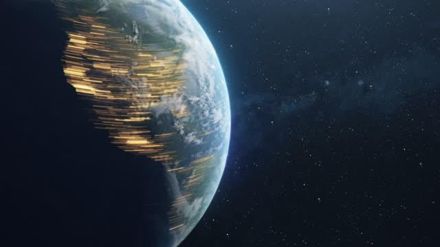 vídeos y material grabado en eventos de stock de spinning planet earth in space time lapse - fast motion