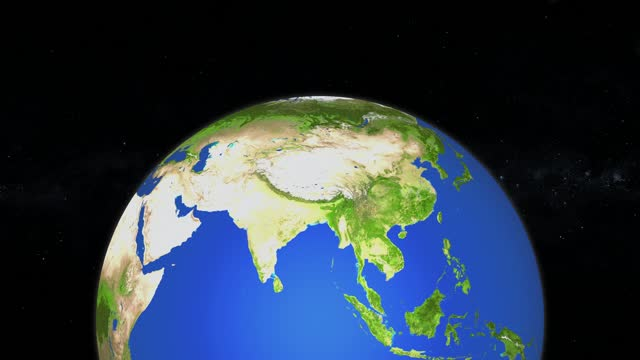 spinning planet earth seen from space - loopable animation stock video - westernisation stock videos & royalty-free footage