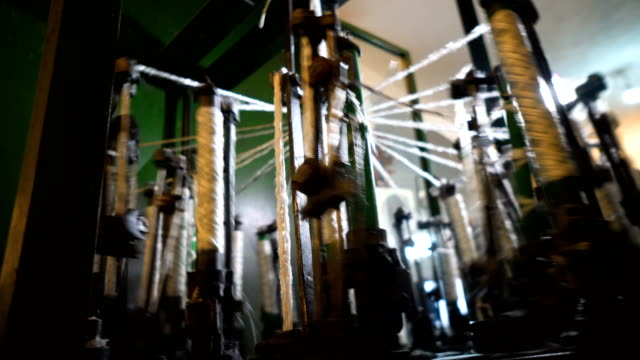 spinning production line factory - ball of wool stock videos & royalty-free footage