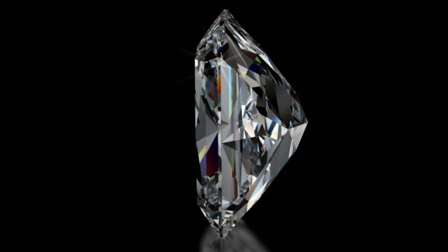 スピニング輝くカットのダイヤモンドに輝く