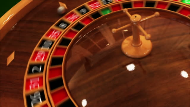spinning roulette table - roulette stock videos & royalty-free footage