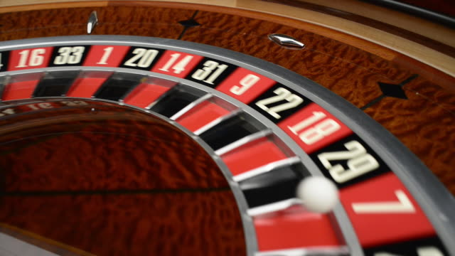 spinning roulette wheel close-up - chance stock videos & royalty-free footage