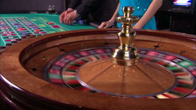 spinning roulette wheel - roulette stock videos and b-roll footage