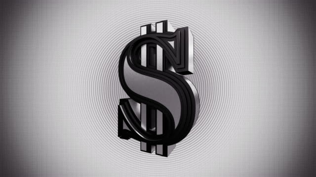 spinning silver dollar graphics animation - symbol stock videos & royalty-free footage