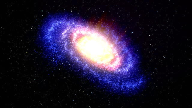 spinning spiral galaxy - spiral stock videos & royalty-free footage