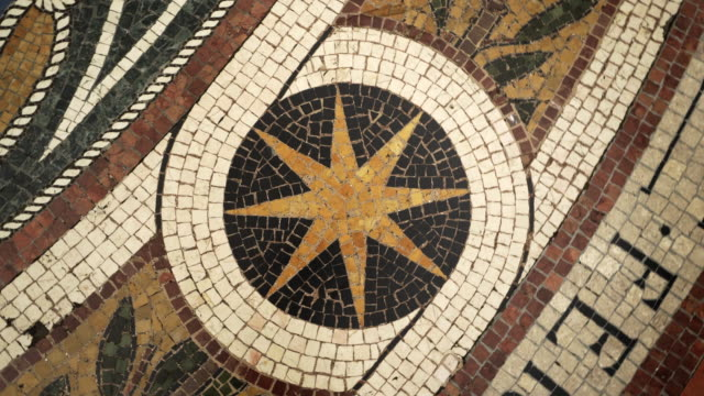 spinning: sun in the floor of the building in milan italy drawn using tiles - milan stock videos & royalty-free footage
