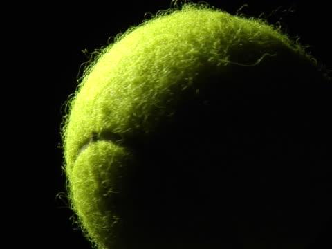 spinning tennis ball - tennis ball stock videos & royalty-free footage