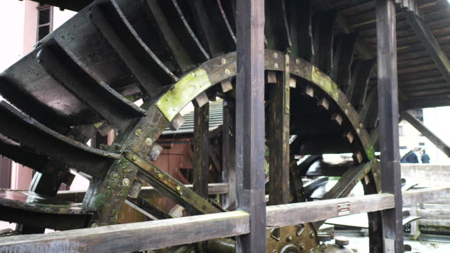 spinning water mill in lauf an der pegnitz, close up - mill stock videos & royalty-free footage