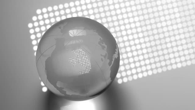 vídeos y material grabado en eventos de stock de spinning world globe - globo terráqueo para escritorio