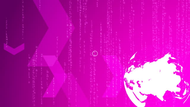 HD - Spinning world with matrix stile background loop