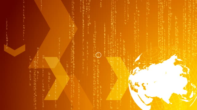 HD Spinning world with matrix stile background loop