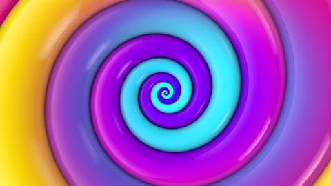vídeos y material grabado en eventos de stock de bucle de fondo en espiral - psicodélico