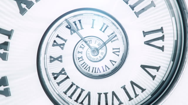 spiral clock (bright, centered) - loop - changing clock stock videos and b-roll footage