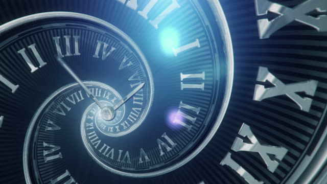 spiral clock (dark, golden ratio) - loop - eternity stock videos & royalty-free footage