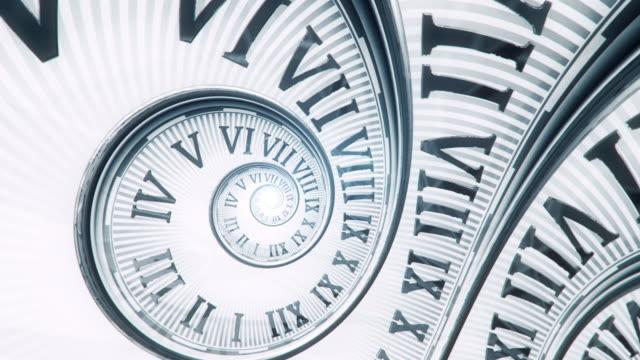 vidéos et rushes de horloge de spirale (lumineuse, sans poignées)-loop - horloge