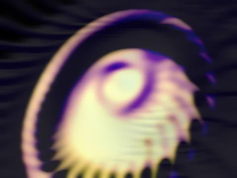 vídeos de stock e filmes b-roll de spiral fantasy background - objeto pontudo