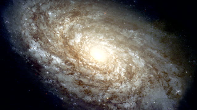 spiral galaxy ngc 4414 - hubble space telescope stock videos & royalty-free footage
