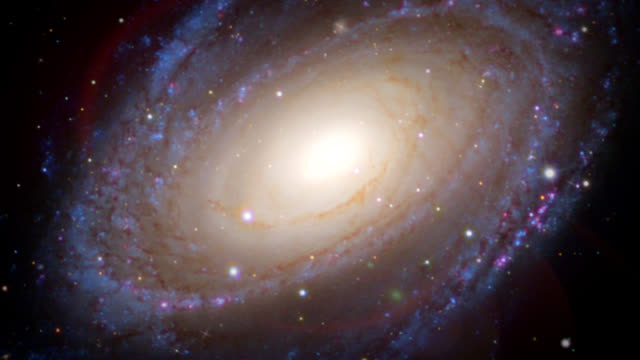 spiral galaxy (m81), optical image. - constellation stock videos & royalty-free footage