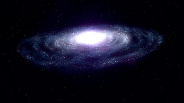 spiral galaxy - galaxy stock videos and b-roll footage