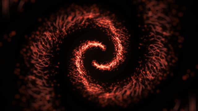 spirale glitzernden stern staub kreis von trail funkelnden partikeln - schwanz stock-videos und b-roll-filmmaterial