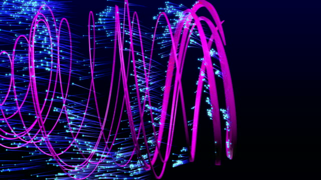 スパイラル状粒子 - らせん菌点の映像素材/bロール