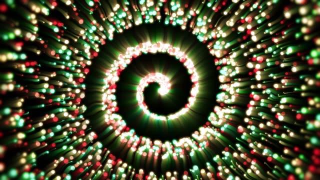 vídeos y material grabado en eventos de stock de espiral de partículas - espiral