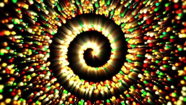 spiral particles - fibonacci pattern stock videos & royalty-free footage