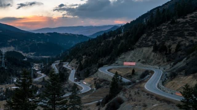 spiral road-curved road - seda stock videos & royalty-free footage