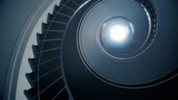 Spiral stair to the light.