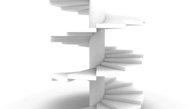 Wendeltreppe auf Weiß