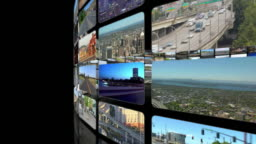 Spiraling Video Wall Outside To Inside (black)