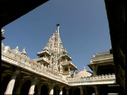 ms spire of jain temple in rankpur, rajasthan, india - spire stock videos & royalty-free footage