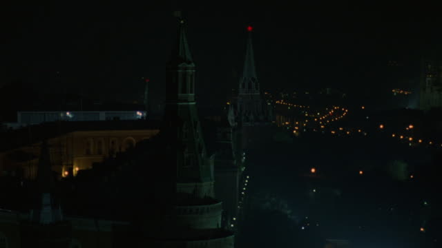 spires and domes appear in the red square area of moscow. - moscow russia stock videos & royalty-free footage
