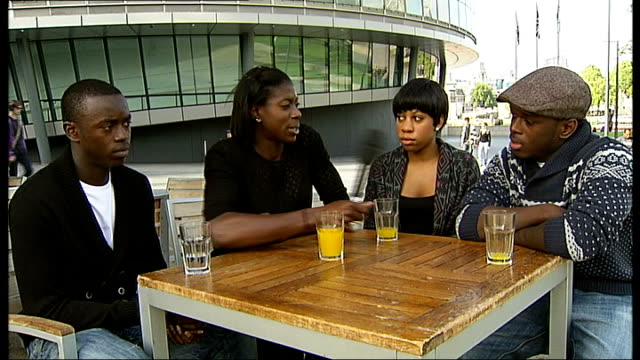spirit of london awards 2010: preview and nominations launch; london: ext gary trowsdale interview sot sequence christine ohuruogu interviewing young... - christine taylor stock videos & royalty-free footage