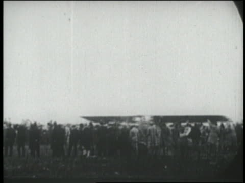 spirit of st louis airplane taking off as crowd watches / ny - 1927 stock videos & royalty-free footage